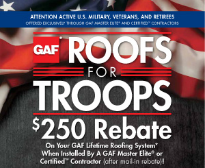 roof discount for military