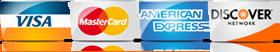 we accept major credit cards